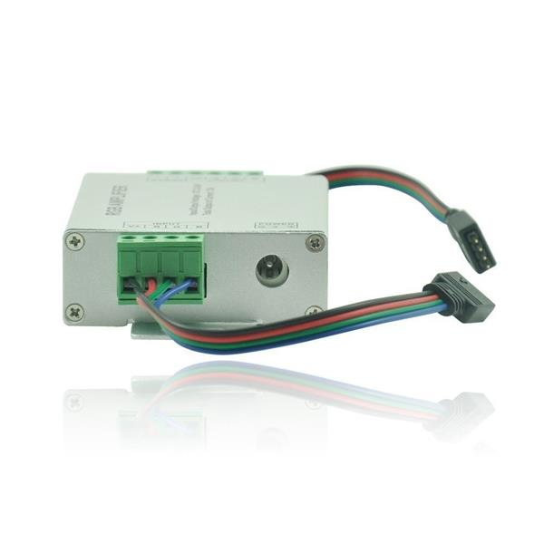 Data Repeater RGB Signal Amplifier For SMD 3528 5050 LED Strip Light DC 12-24V 12A