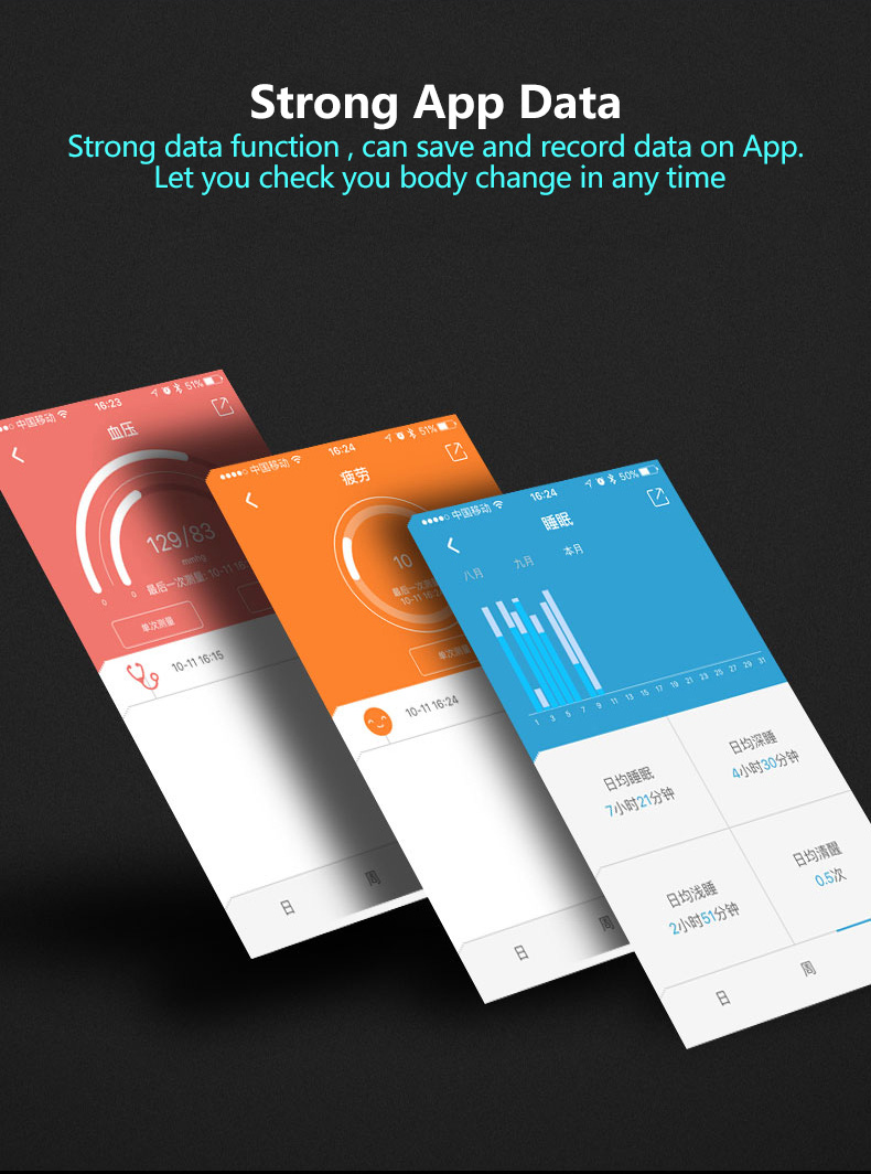 WP105 OLED Blood Pressure SpO₂ Heart Rate Monitor IP67 Sport Tracker Smart Watch Bracelet Android IOS