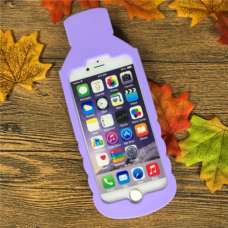 Sweet 3D Love Bottle Ice Cream Couples Case Soft Silicone Rubber Cover For iPhone 7