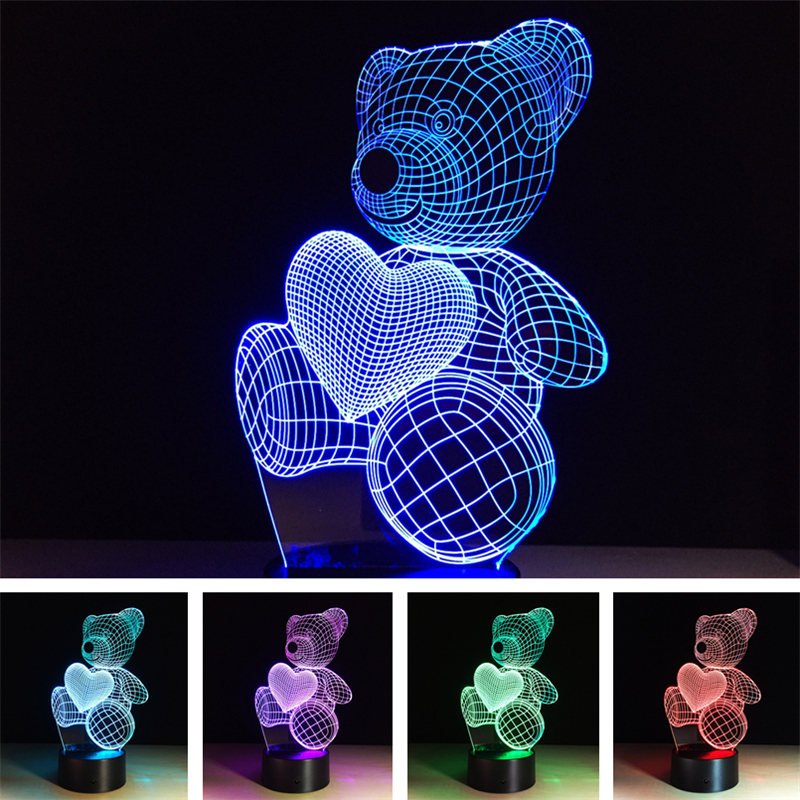 Festival Christmas 3D Illusion Night Light LED Lamp Colorful TF Card Wireless bluetooth Speaker