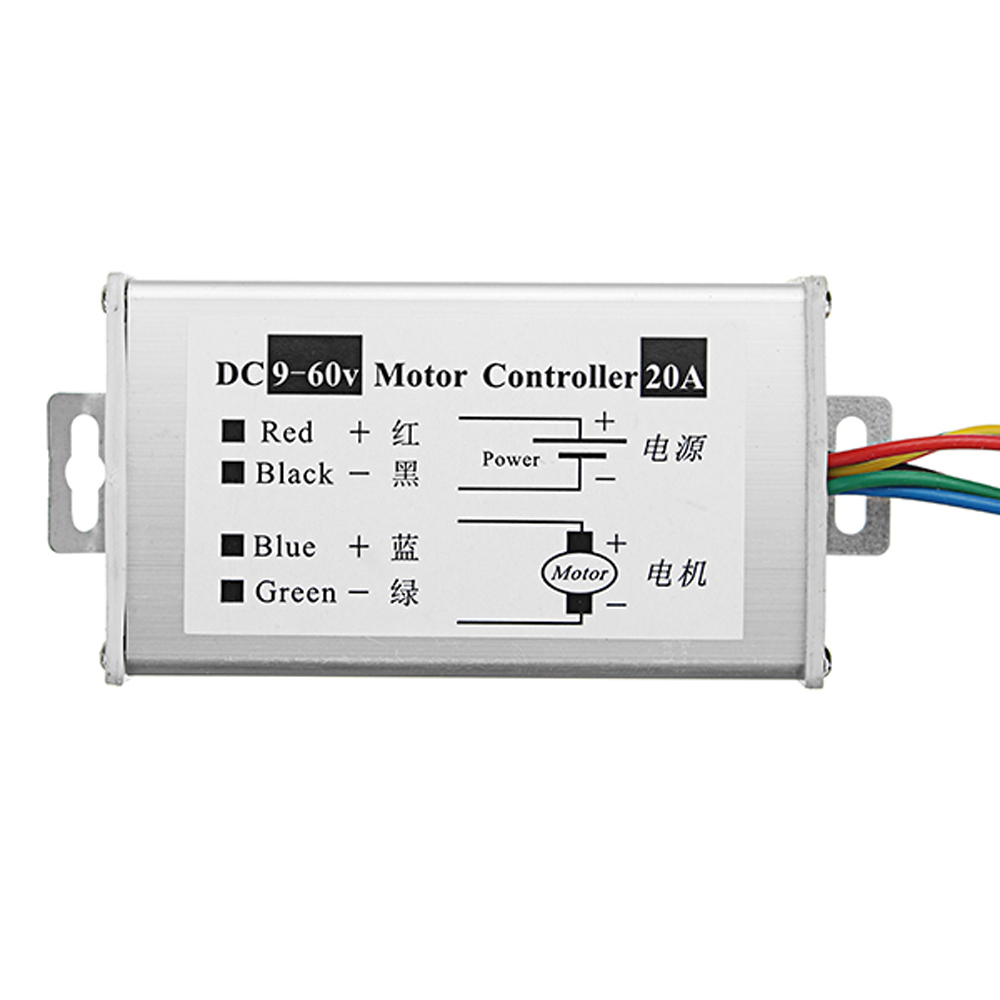 Integrated Circuits Active Components Great It Dc 10-60v Motor Speed Control Regulator Pwm Motor Speed Controller Switch 20a Current Regulator High Power Drive Module Street Price