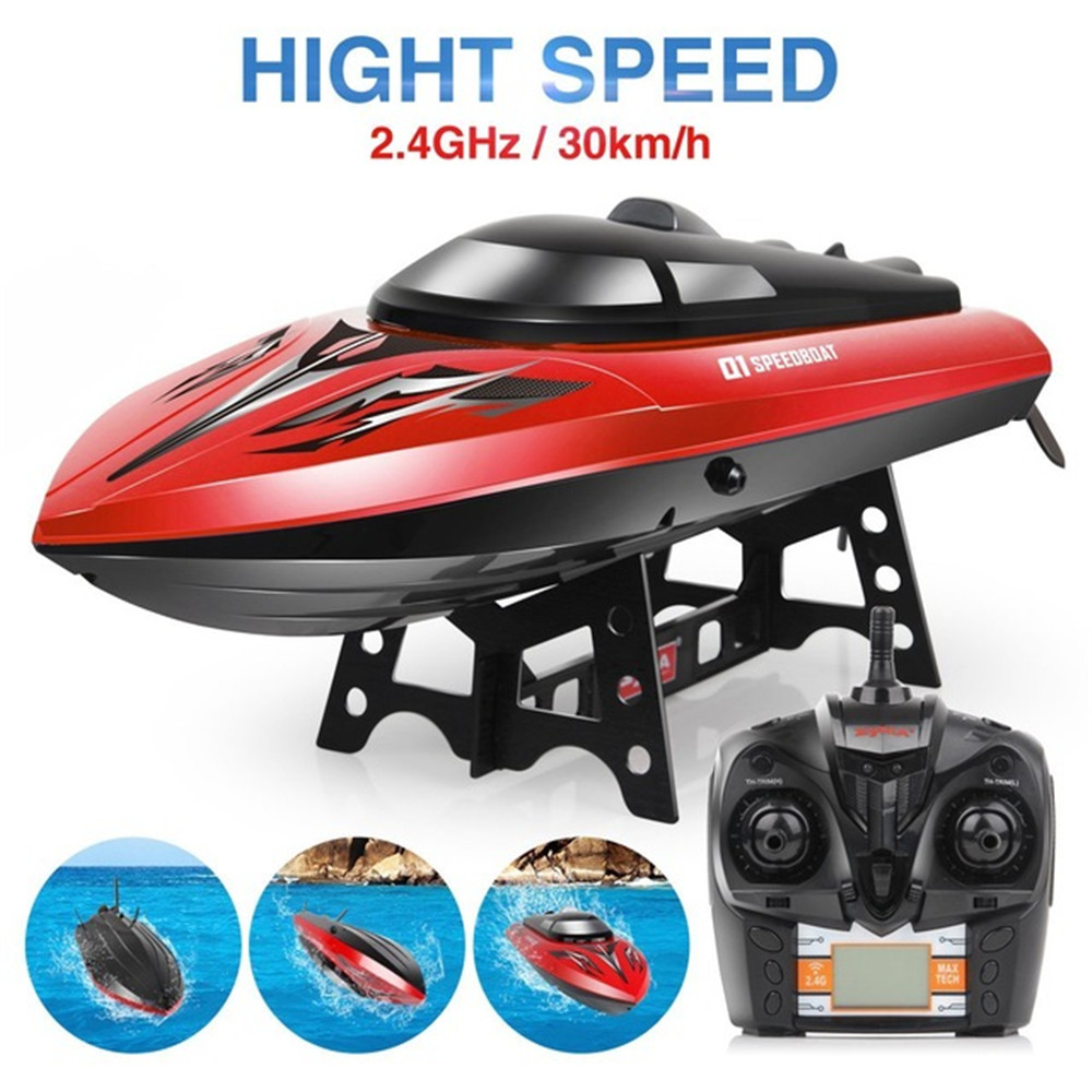 SYMA Q1 2.4G 43cm 180 Degree Flip Rc Boat 30km/h High Speedboat With Water Cooling System - Photo: 4