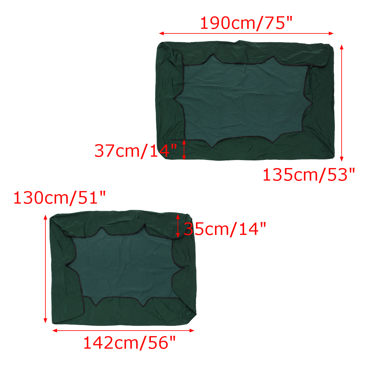 2/3 Seater Garden Swing Chair Anti-UV Waterproof Replacement Canopy Spare Cover