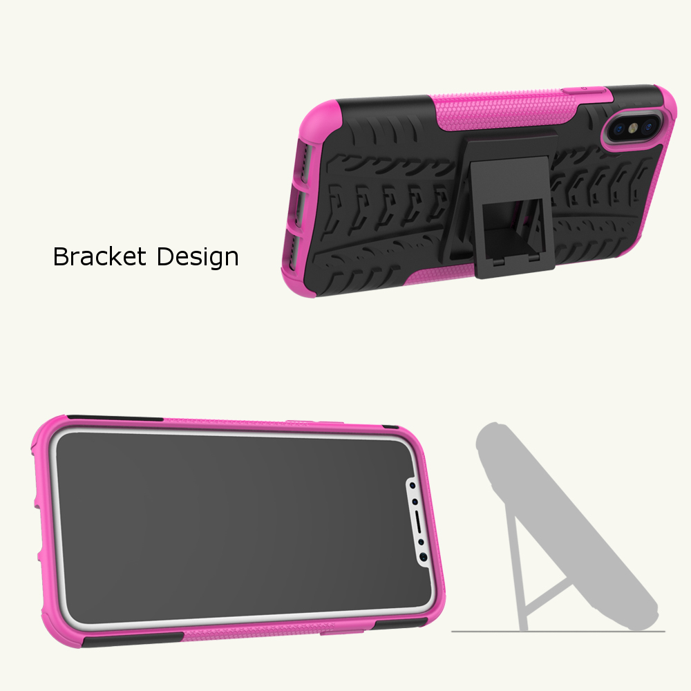 Bakeey™ 2 in 1 Armor Kickstand TPU + PC Hybrid Case Caver for iPhone X