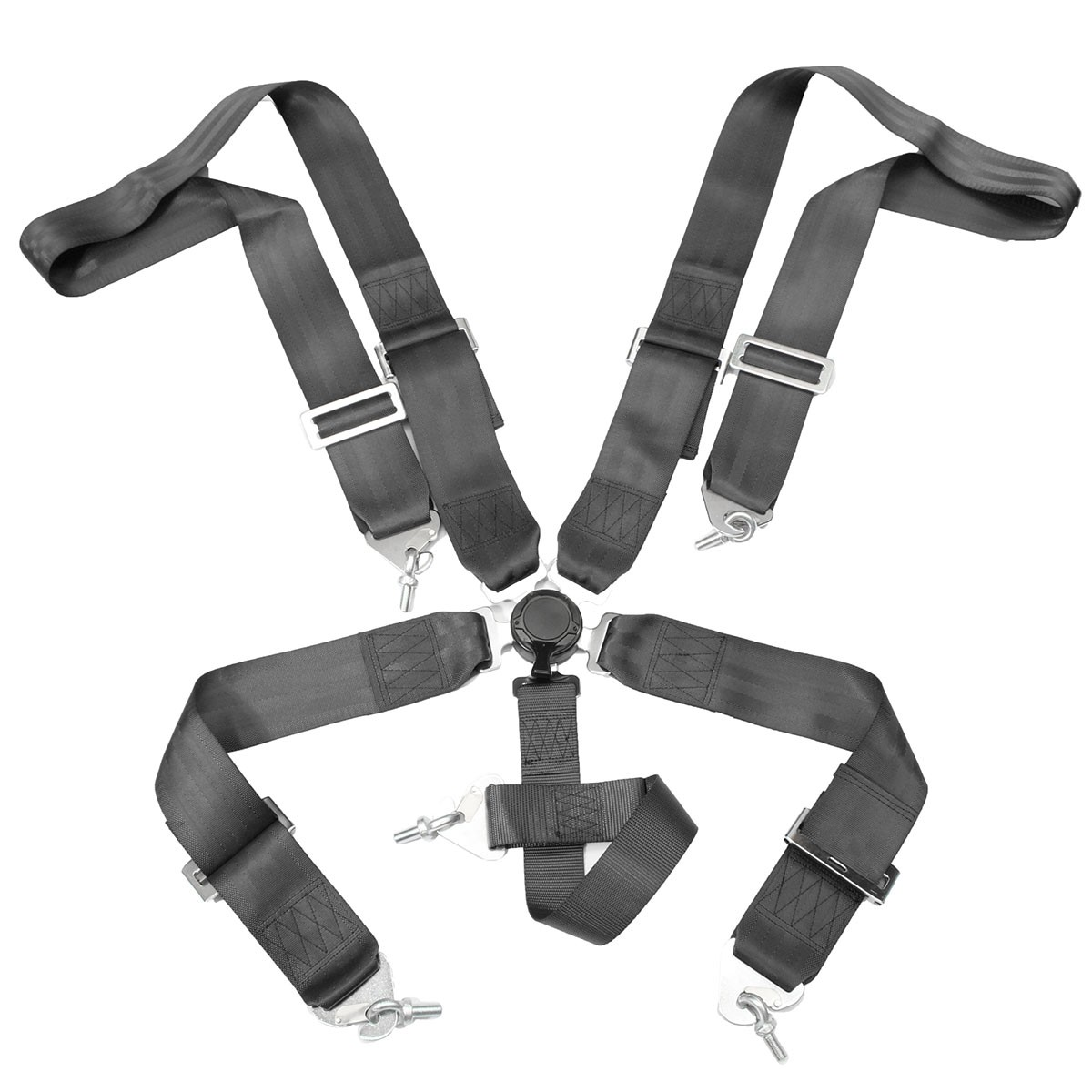 5 Point Cam Lock Racing Car Seat Belt Race Safety Adjustable Strap Nylon Harness