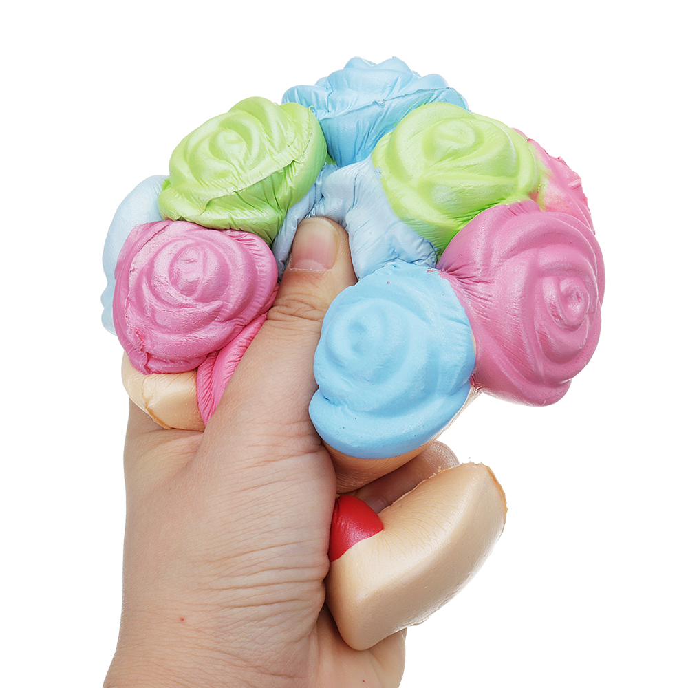 Jumbo Squishy Rose Flower 15*12cm Slow Rising Toy Mother's Day Gift Collection Decor With Packing Box