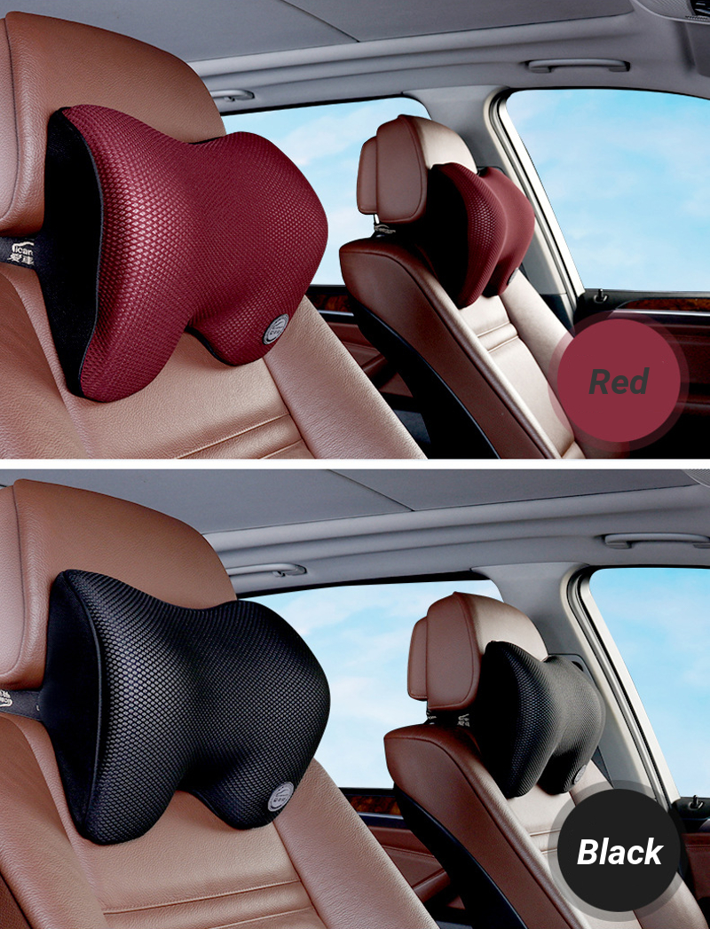 Seven Degree Space Cotton Car Headrest Pillow Safety Cushion Neck Support Covers