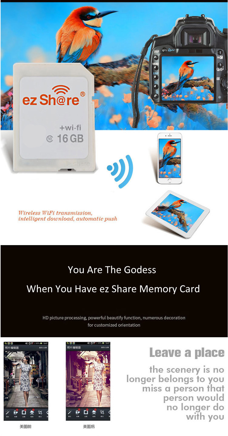 Ez Share 4th Generation 16GB C10 WIFI Wireless Memory Card