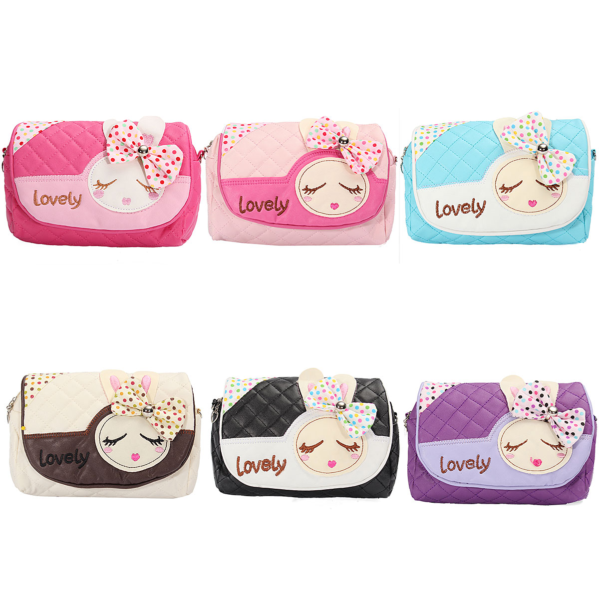 New Kids Children Girls Princess Pretty Lovely Handbag Rabbit Shoulder Bags Messenger Bag
