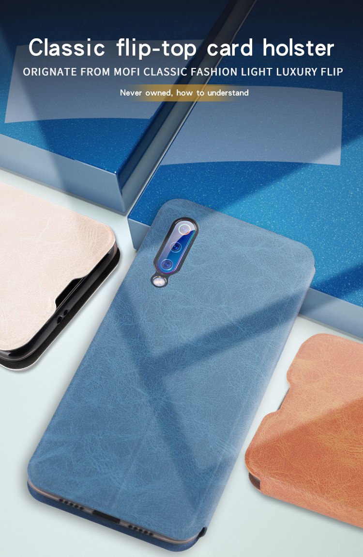 MOFI Shockproof PU Leather Flip Card Slot With Stand Full Body Protective Case For Xiaomi Mi9 / Xiaomi Mi 9 Transparent Edition
