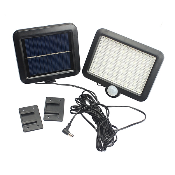6W Solar Powered 56 LED PIR Motion Sensor Wall Light Outdoor Garden Yard Street Security Lamp
