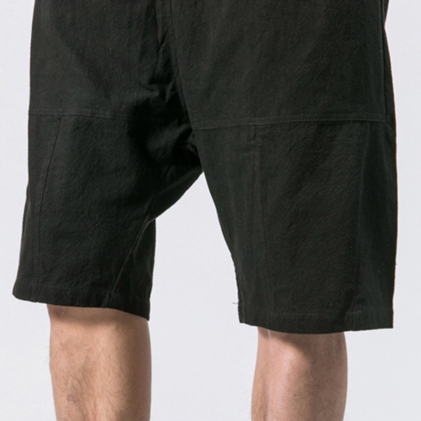 Men's Casual Loose Cotton Linen Knee Length Shorts