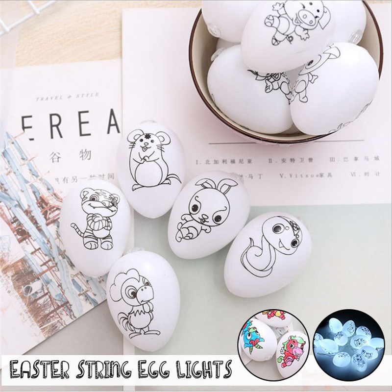 Battery Powered White 12LED Easter Egg String Fairy Holiday Light Wedding Garden Christmas Decor