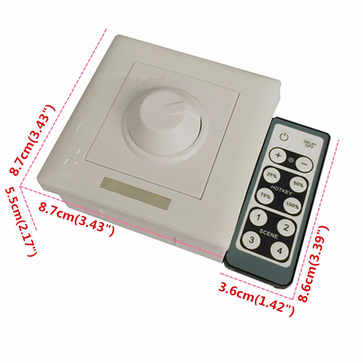 AC110V-240V LED Light IR Remote Dimmer Control Wireless Wall Switch
