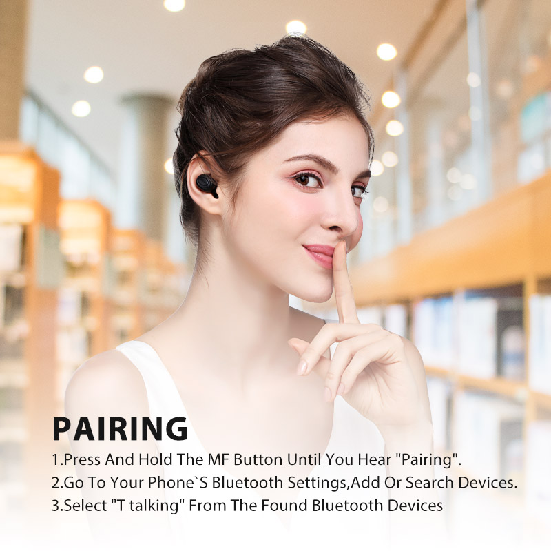 [bluetooth 5.0] Bluedio T-talking Wireless bluetooth Earphone Voice Control USB Charging Headphone