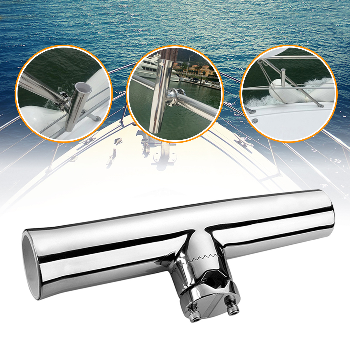 316 Stainless Steel 7/8''-1'' Tube Fishing Rod Holder B