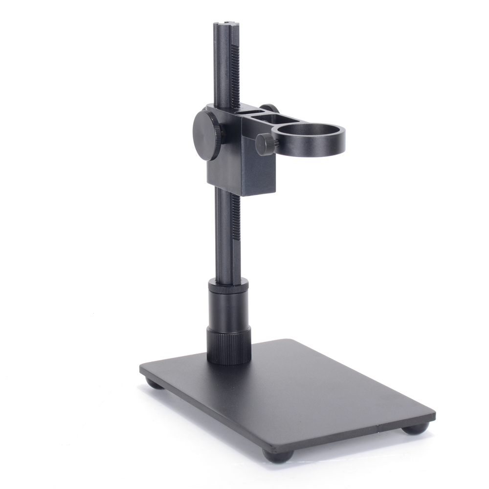 Portable Aluminum Alloy Arm USB Microscope Stand Holder Bracket Mini Foothold Table Frame For Microscope Repair Soldering with Two LED Lights