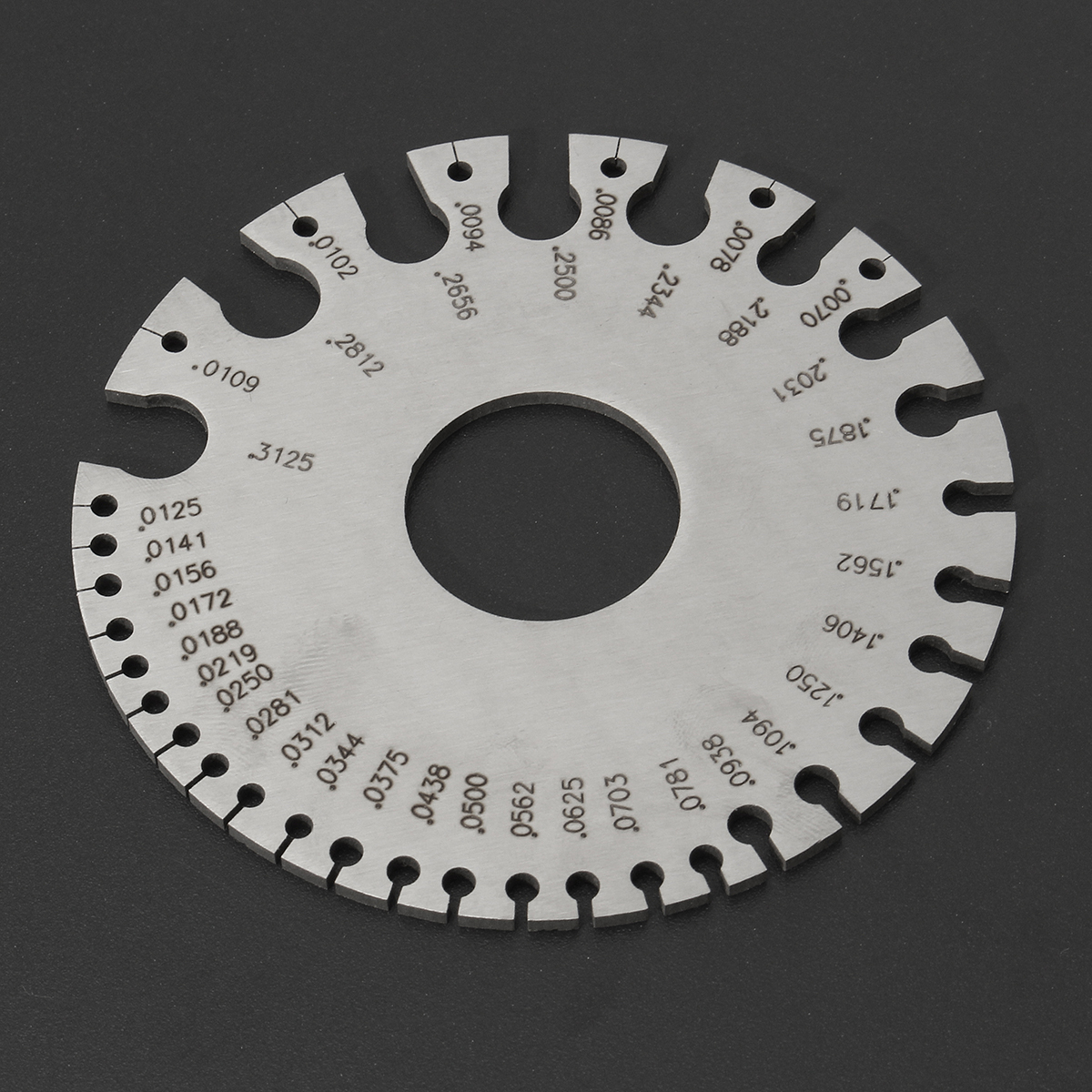 Wire Thickness Measuring 2 Sides Round Wire Thickness Measurer Tester Ruler Gauge Diameter Tool