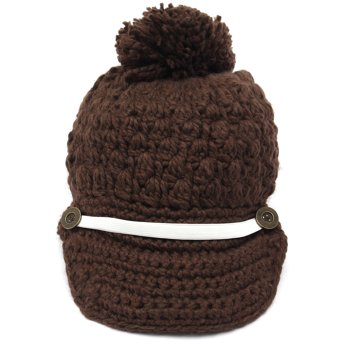05809799347b4 Women Ladies Braided Knitted Baggy Beanie Knit Crochet Ski Hat Button  Decorative Baseball Cap