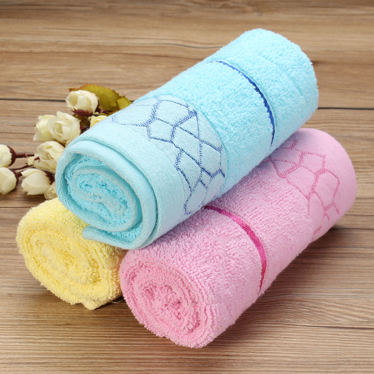 73x33cm Absorbent Cotton Jacquard Weave Towel For Home Camping Travelling Yoga