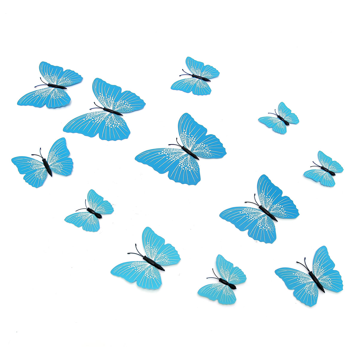 12PCS 3D Butterfly Art Design Decals Wall Stickers Home Decor Room Wedding Party Decorations