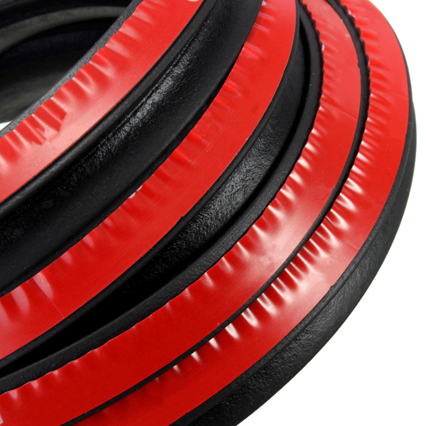 4M P-shape Car Truck Door Rubber Seal Strip Weather Strip Air Seals Hollow Black