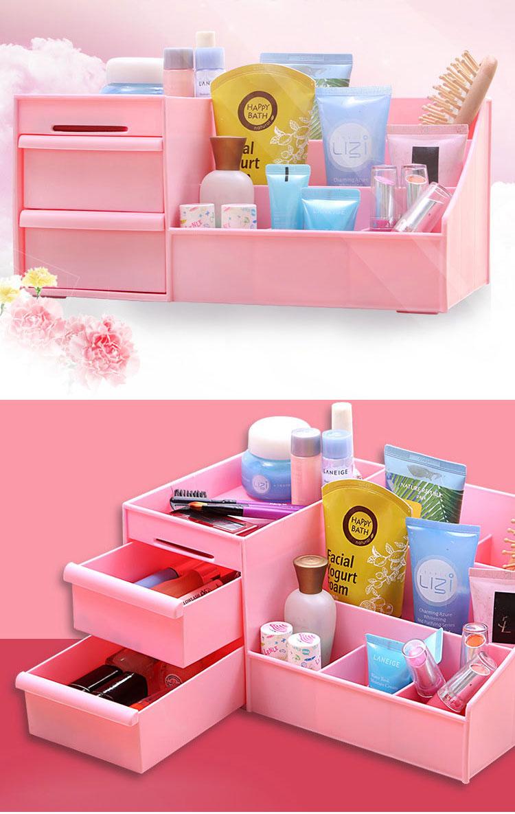 Honana HN-XS1 Large Desktop Cosmetic Storage Box Key Sundries Holder Three Layers Home Organizer