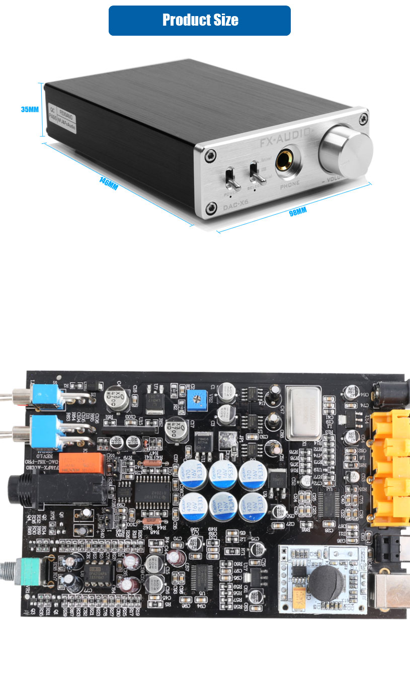 FX Audio DAC-X6 DAC 24BIT/192 HiFi Amplifier