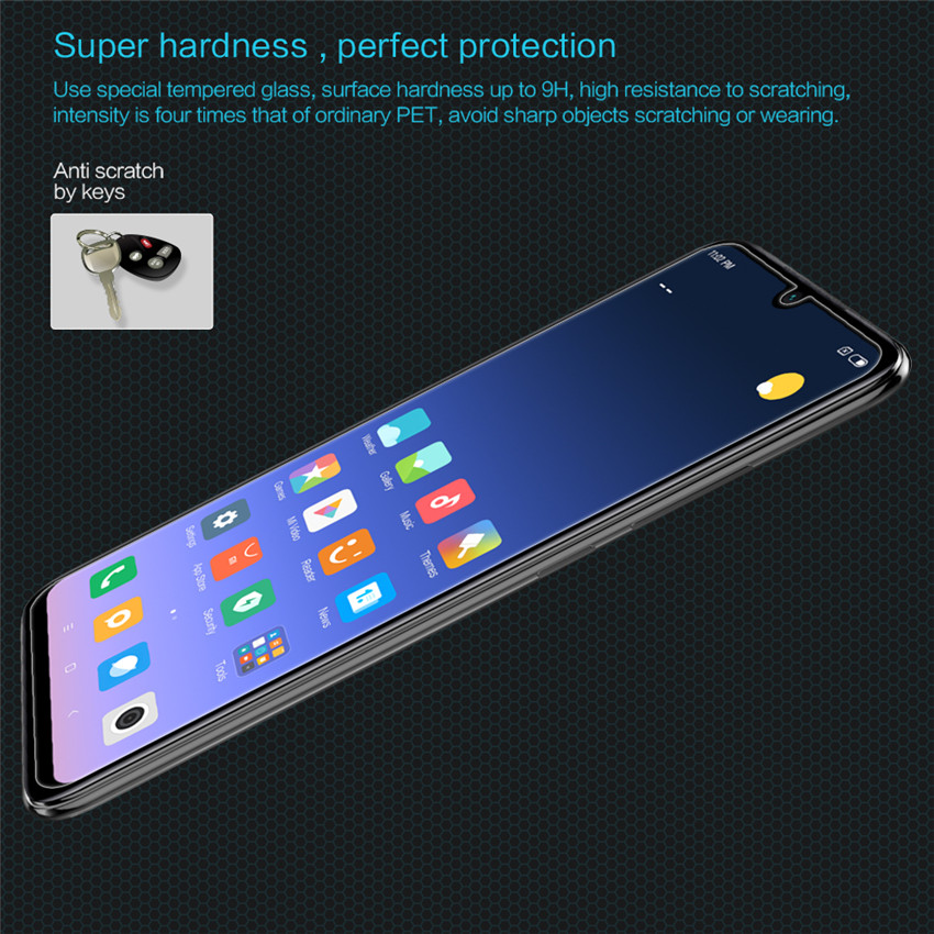 NILLKIN H Anti-explosion Tempered Glass Screen Protector + Phone Camera Lens Film for Xiaomi Redmi Note 7 / Note 7 Pro