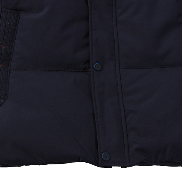 Mens Thick Warm Mid-long Length Parka Solid Color Multi Pockets Padded Jacket