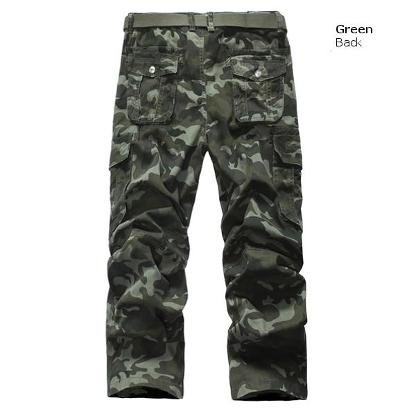 Mens Outdoor Camouflage Pants Fashion Vintage Trousers Casual Cargo Camo Pants