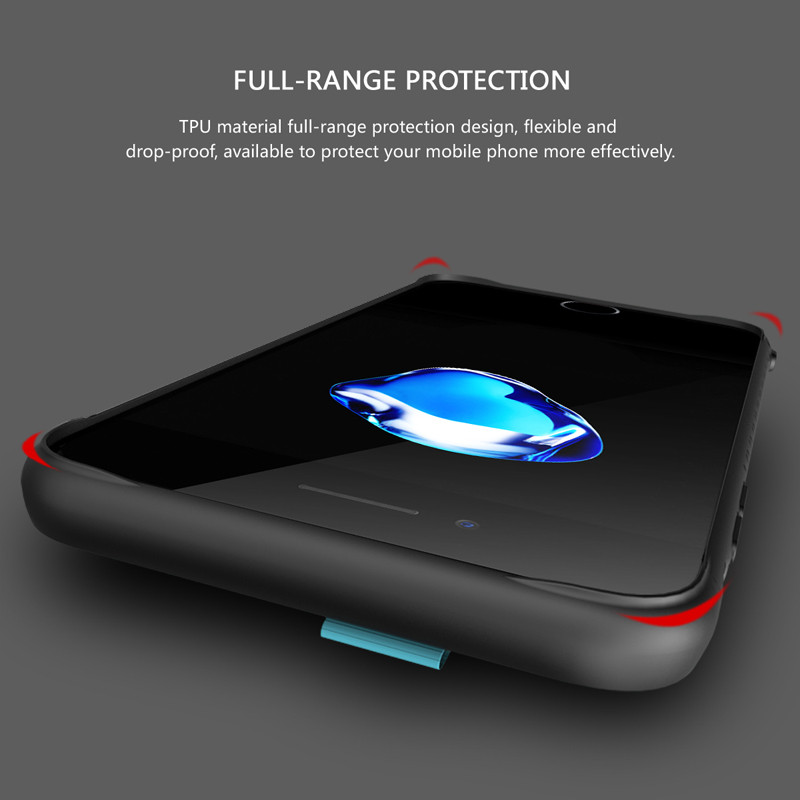 BASEUS Lang Series Card-slot Mesh PU Leather PC Case for iPhone 7 Plus 5.5