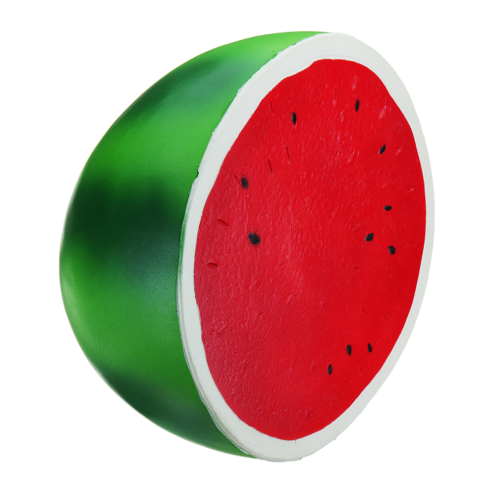 Giant Watermelon Squishy 9.84in 25*24*14CM Huge Fruit Slow Rising Soft Toy With Packaging Random Free Gift