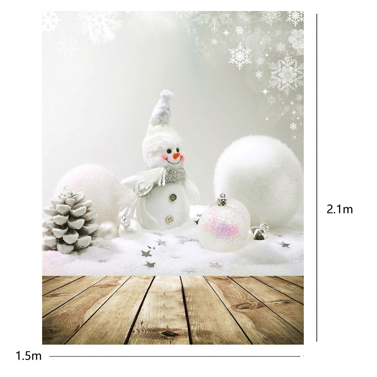 5x7ft Christmas Snowman Wall Board Studio Photo Photography Background Backdrop