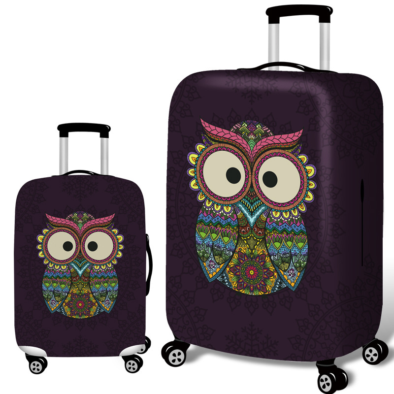 Honana Owl Elastic Luggage Cover Trolley Case Cover Dur
