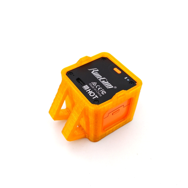 35 Degree Inclined Base Camera Protective Frame Case Orange Spare Part For Runcam 3S Camera - Photo: 2
