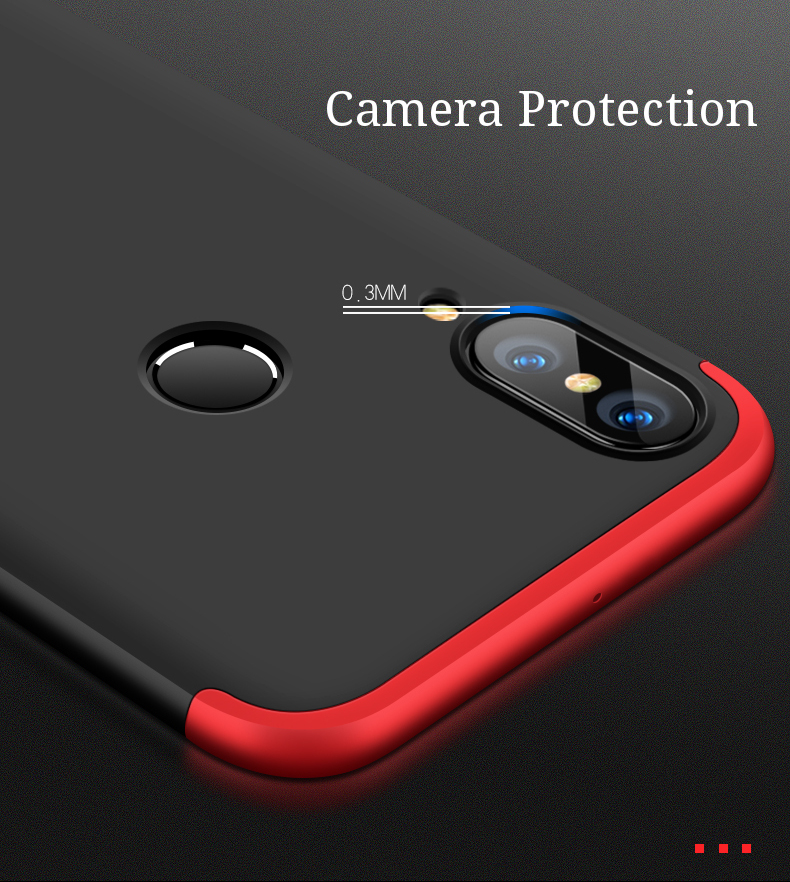 Bakeey™ 3 in 1 Double Dip 360° Full PC Protective Case For HUAWEI nova 3e / Huawei P20 Lite
