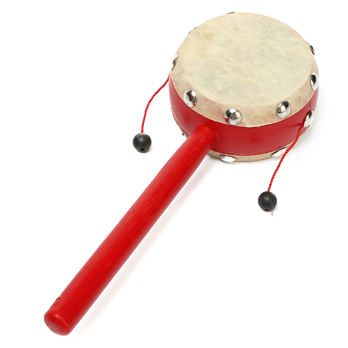 Baby Infant Kids Sheepskin Hand Rattle Drum Early Education Wave Shake Musical Instrument Toy Rhythm