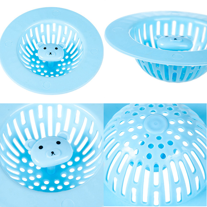 Honana DS-018 Cartoon Animal Basin Filter Bath Drain Shower Tub Hair Catcher Strainer Cover Sink Trap Stopper