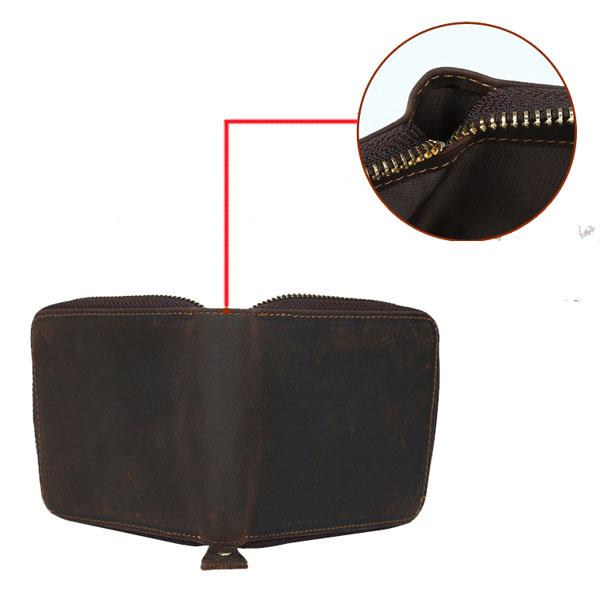 Men Genuine Leather Wallet Card Holder Pocket Simple Short Design Purse