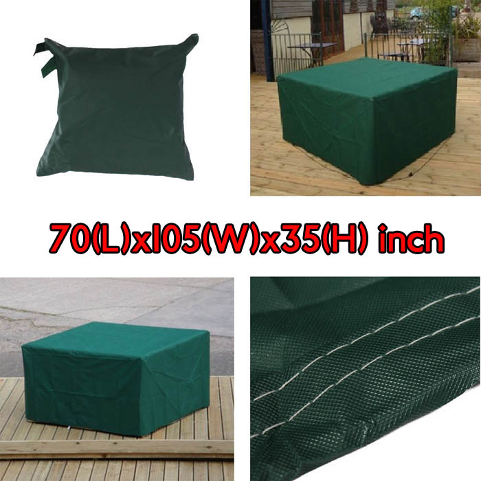 180x268x90cm Garden Outdoor Furniture Waterproof Breathable Dust Cover Table Shelter