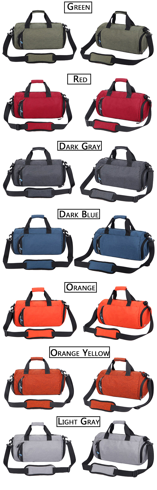 Nylon Large Capacity Waterproof Leisure Travel Crossbody Bag Handbag Fitness Outdoor Sports Bag