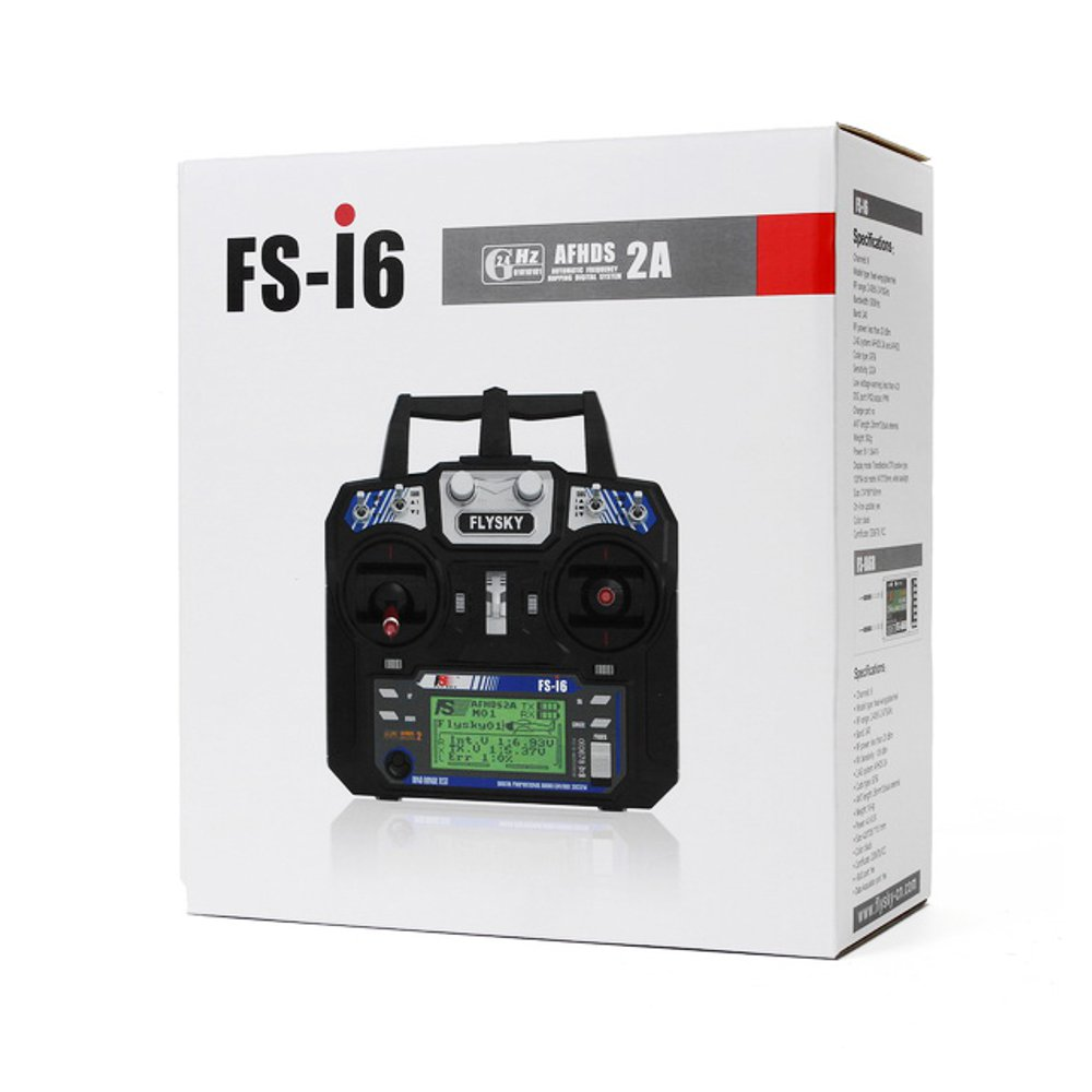 FlySky FS-i6 2.4G 6CH AFHDS Remote Control Transmitter With FS-R6B Receiver For RC FPV Drone - Mode 1 - Photo: 8