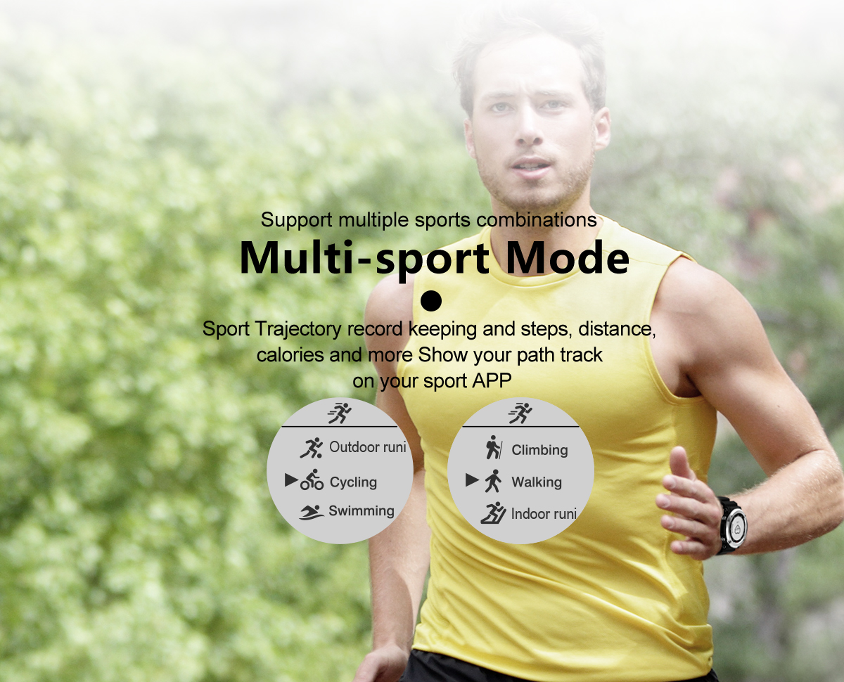 Newwear Q6 1.0inch GPS Compass Heart Rate Monitor Sports Mode Fitness Tracker bluetooth Smart Watch
