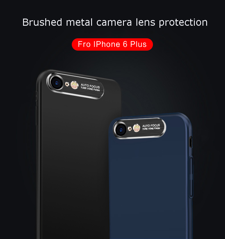 Bakeey Camera Lens Protection Hard PC Matte Case for iPhone 6Plus/6sPlus
