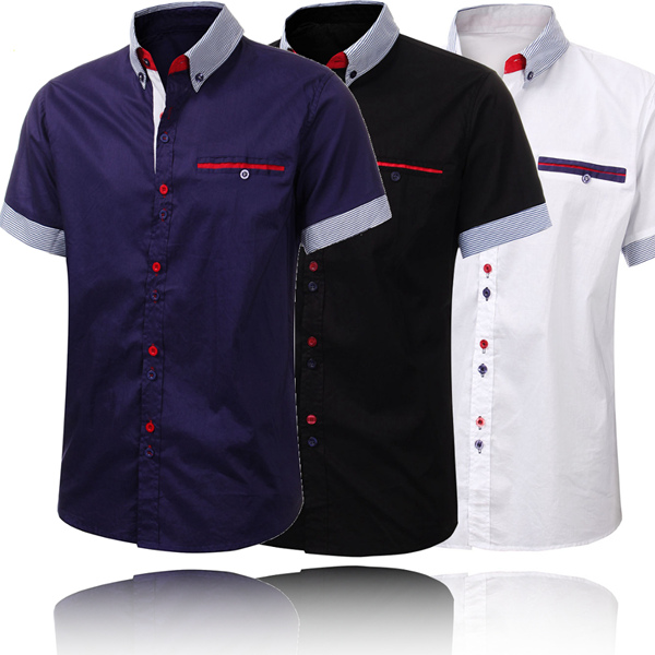 Men's Stylish Formal Short Sleeve Shirt