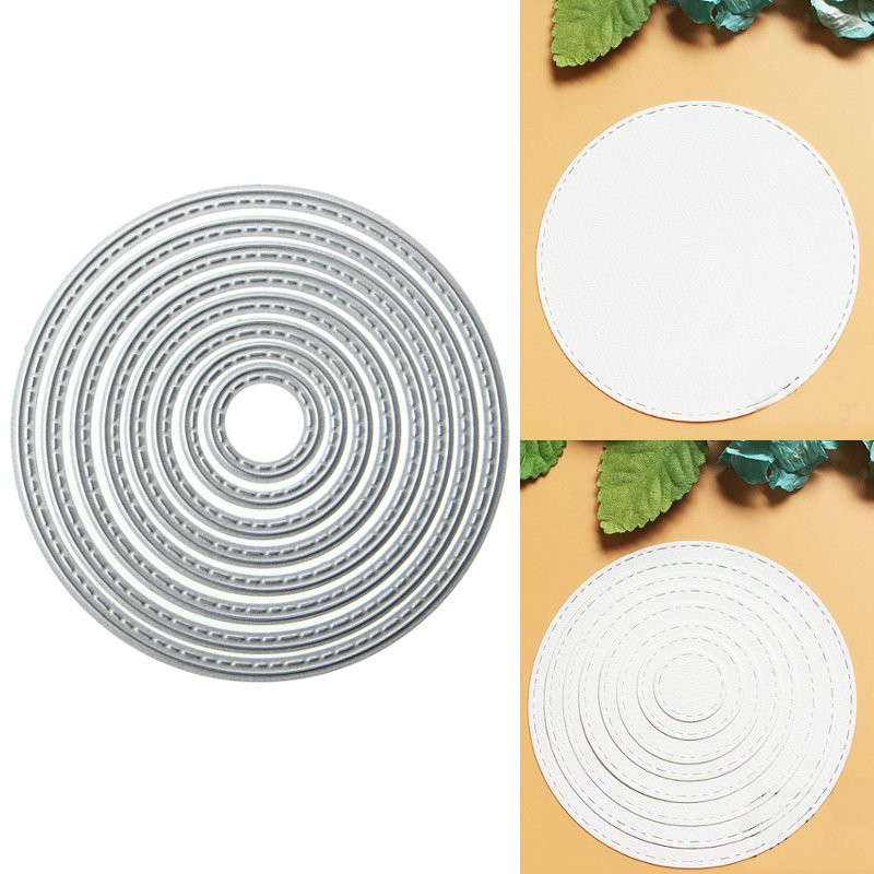 8PCS Ring Metal Die Cutting DIY Scrapbook Photo Paper C