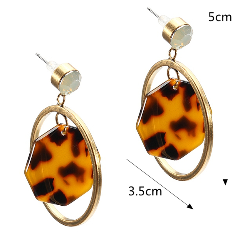 JASSY® Stylish Leopard Print Cellulose Acetate Earrings