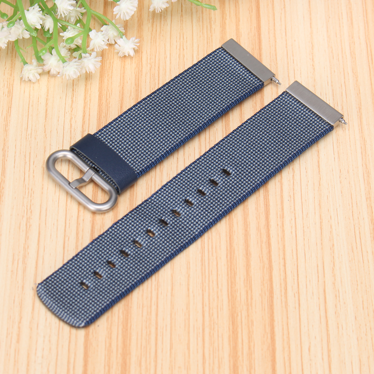Colorful Nylon Loop Watch Band Strap Replacement for Fitbit Versa Breathable Fabric