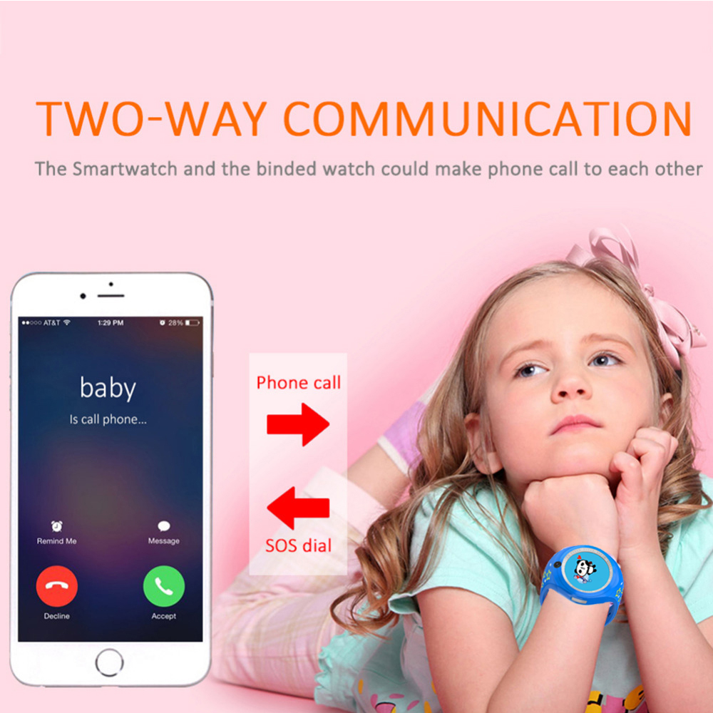 ENOCH Y25 Kids Sim Card bluetooth Anti-lost Sleep Reminder Pedometer TF Card Camera Smart Watch